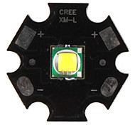DIY CREE 10W 1000LM 7000K White Light LED Emitter with Aluminum Base (3.2-3.6V)
