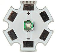 bricolage cree 3w 465nm 80lm lumière led bleue émetteur avec base en aluminium (3,2 3.6v)