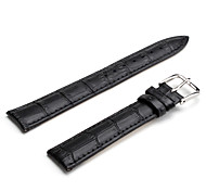 Unisex Genuine Leather Watch Strap 18MM(Black) Cool Watch Unique Watch Fashion Watch