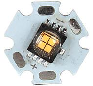 diy 12w 900lm 3000K luz blanca cálida LED emisor con base de aluminio (12v)