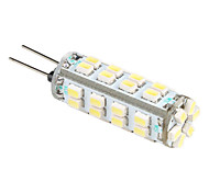 G4 1206 SMD 38-LED White Light Bulb for Car Lamps (DC 12V)