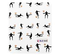 3 Stk. halbe Abdeckung Basketballspiele Stil Nail Art Nail Sticker
