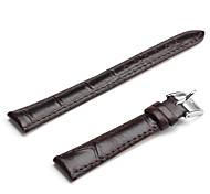 Unisex Leder Armband 14mm (schwarz)