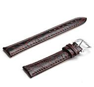 Unisex Leder Armband 18mm (braun)