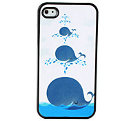 Cute Whale Pattern Dull Polish Hard Case for iPhone 4 and 4S (Multi-Color)