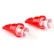 T10 1-LED Red Light Bulb for Car Lamp (DC 12V, 2-Pack)
