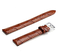 Unisex Genuine Leather Watch Strap 16MM(Brown)