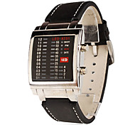 Herren Modeuhr digital LED Band Schwarz Marke-