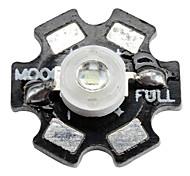 Epistar 520-525nm 3W 60-80LM 700mAh Green LED Light Bulb with Aluminum Plate (3.4-3.8V)