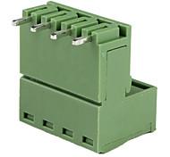 5.08mm 300V 10A 4-Pin Plug In PCB Terminal Blocks (10-Piece Pack)