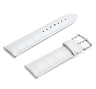 Unisex Leder Armband 24mm (weiß)