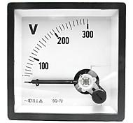 AC 0-300V panel de metros cuadrados de voltaje (voltímetro analógico)