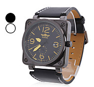 Men's PU Analog Mechanical Fashionable Watch  (Assorted Colors)