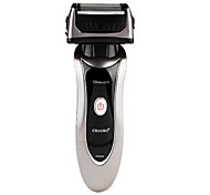 RSCW-9300 Rechargeable Electric Three-Head Reciprocal Shaver (Silver and black)