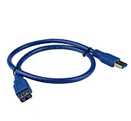 USB 3.0 AM to AF Cable (0.6 m, Blue)