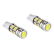 T10 3W White Light Bulb for Car Dashboard/Width/Turning Signal Lamps (2-Pack, DC 12V)