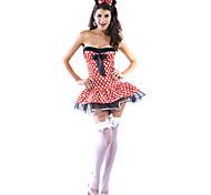 Sexy Playful Ratón polka Dot Dress Halloween Costume (2pieces)