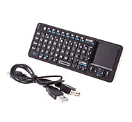 Mini Wireless Bluetooth QWERTY Keyborad con Touchpad Mouse + Remoto IR