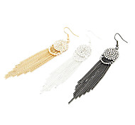 Long Tassels Earrings With Diamond