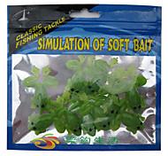 10 pc Esche morbide Verde g Oncia mm pollice,PVC Pesca di mare / Pesca di acqua dolce