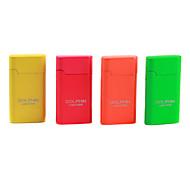 Mini Fluorescence Color Windproof Butane Lighter (Random Color)
