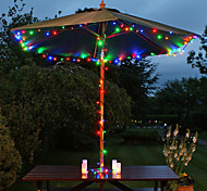 Solar 60-LED Colorful Light Outdoor Fairy Lights Christmas Decoration Lamps