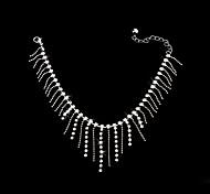 Women's Anklet Bracelet Alloy Crystal