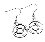 316L Stainless Steel Roman Number Dangle Stud Earrings For Women with Gift Box