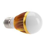 Lâmpada Redonda LED E26/E27 6W 500 LM 3000K K Branco Quente 3 LED de Alta Potência AC 100-240 V