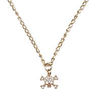 Schädel Stil Rose Goldene Halskette
