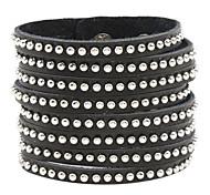 Z&X®  Tiny Rivet Straight Leather Bracelet