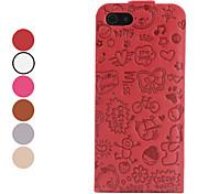 Cartoon-Muster Falten Ledertasche für iphone 5/5s (farblich sortiert)