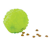 Dog Pet Toys Ball / Chew Toy Food Dispenser Green Silicone