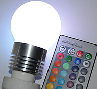 E26/E27 5 W 5 High Power LED 450 LM RGB / Color-Changing G45 Remote-Controlled Globe Bulbs AC 100-240 V