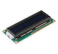 1602A 16 x 2 líneas de caracteres White Módulo LCD con luz de fondo azul (DC 5V)