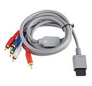 Copper Plating Component Audio and Video AV Cable for Wii - Grey (2.0M)