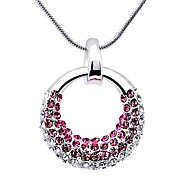 Love Circle Crystal And Zircon Necklace