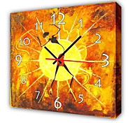 Modern Style Dancing Wall Clock in Canvas