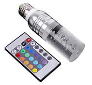 Lampandine a candela 1 LED ad alta intesità E26/E27 3 W Controllo a distanza 195 LM Colori primari / Cambia-colore AC 100-240 V