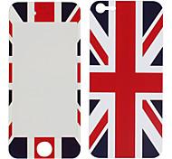 Шаблон Union Jack Передняя и задняя наклейки протектор для iPhone 5