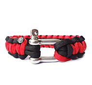 Steel Button Double Color Life-saving Bracelet