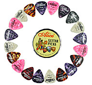 Alice - (A011B) Round Picks Steel Box with 20 Picks(Random Color)