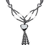 Heart Shape Hematite Bead Necklace