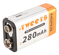Batteria ricaricabile Ni-MH batteria (9v, 280 mAh)