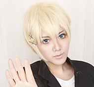 Parrucche Cosplay Inu x Boku SS Banri Watanuki Oro Corto Anime Parrucche Cosplay 30 CM Tessuno resistente a calore Uomo
