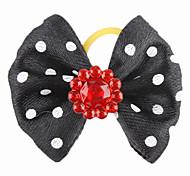 Estilo elegante da flor minúscula Borracha Laço de Cabelo Banda para Gatos Cães (cores sortidas)