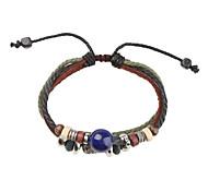 Z&X®  Fabric and Leather Bracelet Multilayer Totem Vintage Bracelet