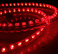 Waterproof 72cm 72-LED Red LED Strip Light for Car (12V)