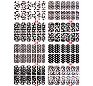 12pcs Nail pleine couverture Nail Art Sticker