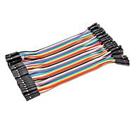 dupont hembra a hembra cable line 41p-41p prueba de líneas de conexión (10 cm) de alambre